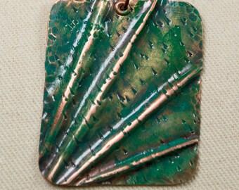 Form folded Copper Pendant Necklace