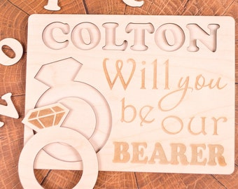 Ring bearer gift Puzzle, Will You Be our Ring Bearer gift, Ask Ring bearer, Ring bearer Proposal, Ring bearer, Will You Be my Ring Bearer