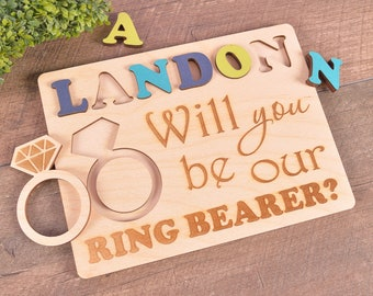 Will you be my ring bearer puzzle will you be our ring bearer proposal Ask Ring Bearer gift flower girl ring bearer puzzle ring security