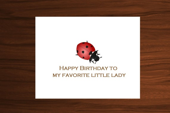 Baby Girl Birthday Ladybug Birthday Cards Happy Birthday Etsy