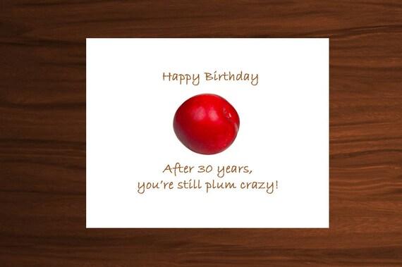 30th Birthday 30th Birthday Card Happy 30th Birthday Happy Etsy