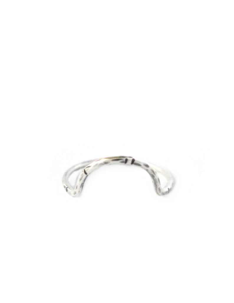 Silver Arc Ring Curve Ring Gifts Under 50 Recycled Sterling image 0