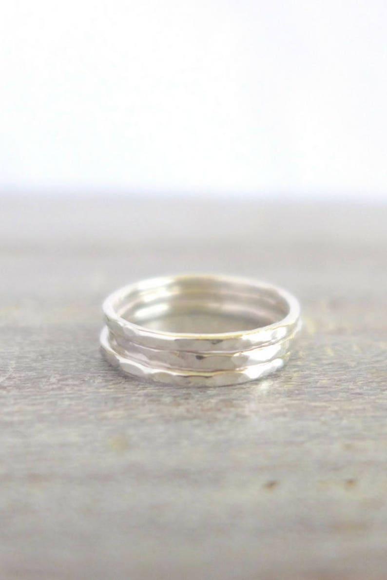 Silver Stacking Rings Stacking Ring Set 3 Stacking Rings image 0