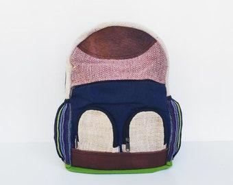 Temple Hemp Leather backpack