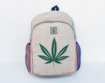 Weed leaf print Backpack