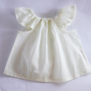 Organic cotton cambric baby top soft white organic baby   Etsy