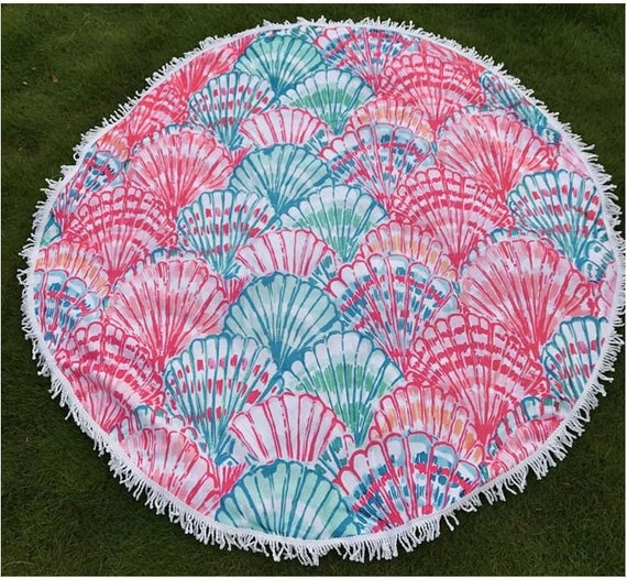 Designer beach towels Geometric Image Petlove Beach Towel Designer Inspired Beach Towels Round Beach Etsy