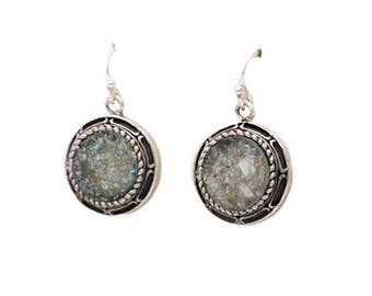 Roman Glass Earrings Authentic /& Luxurious With Certificate