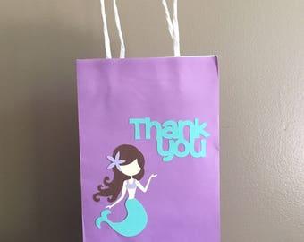Mermaid Favor Bag, Mermaid Gift Bag, Under The Sea Favor Bag, Party Bag, Party Favor, Mermaid Party, Under The Sea Party