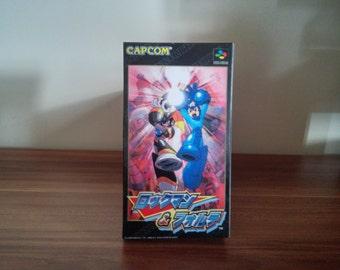 No Super Famicom Rockman & Forte - caja Repro juego incluido