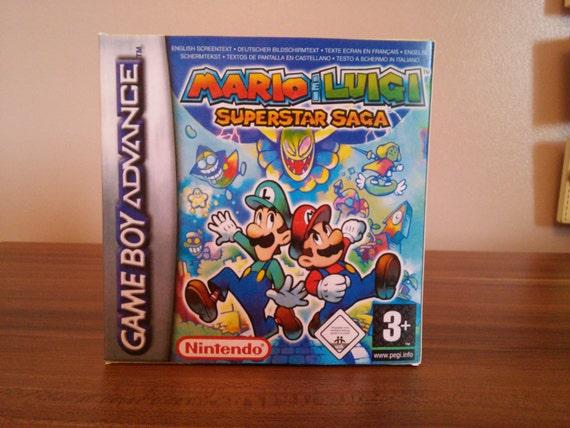 Game Boy Advance Mario Luigi Superstar Saga Repro Box And Etsy