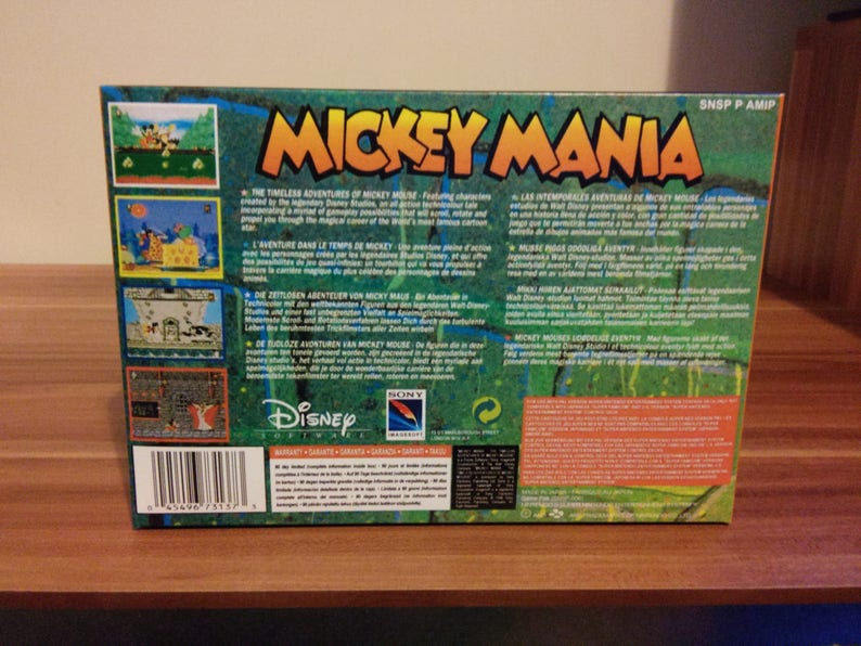 SNES Mickey Mania - The Timeless Adventure of Mickey Mouse - Replacement  Box and Insert NO Game Included
