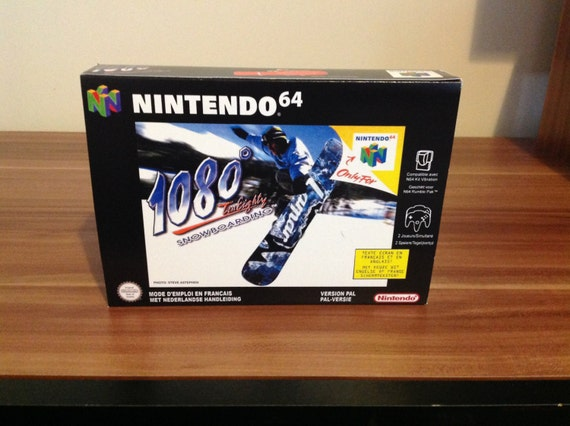 N64 1080 Snowboarding Replacement Box And Insert Only No Etsy