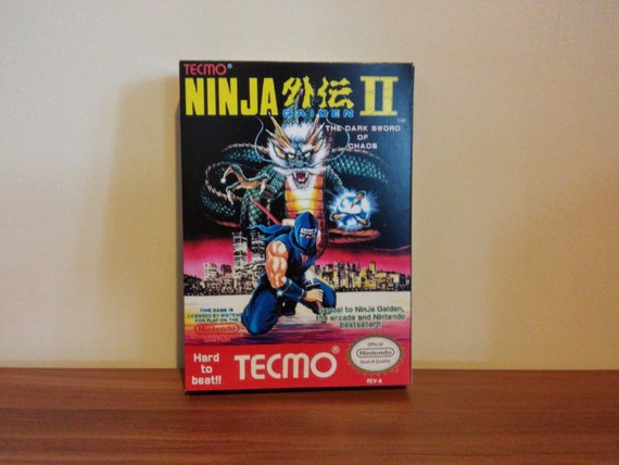 Nes Ninja Gaiden 2 Replacement Box No Game Included Etsy