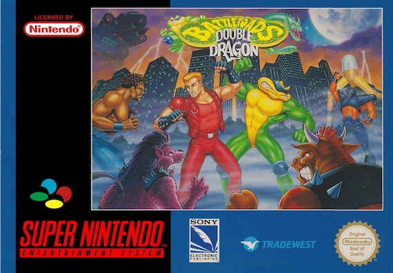 Snes Battletoads Double Dragon Replacement Box And Insert No Etsy