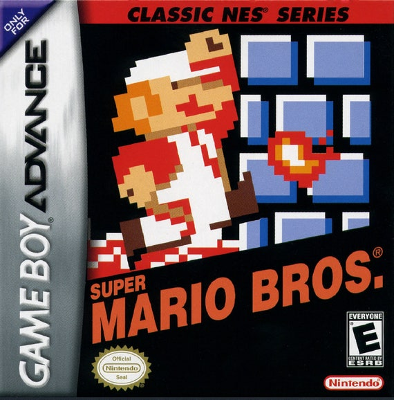 Game Boy Advance Super Mario Bros Nes Classics Repo Box And Etsy