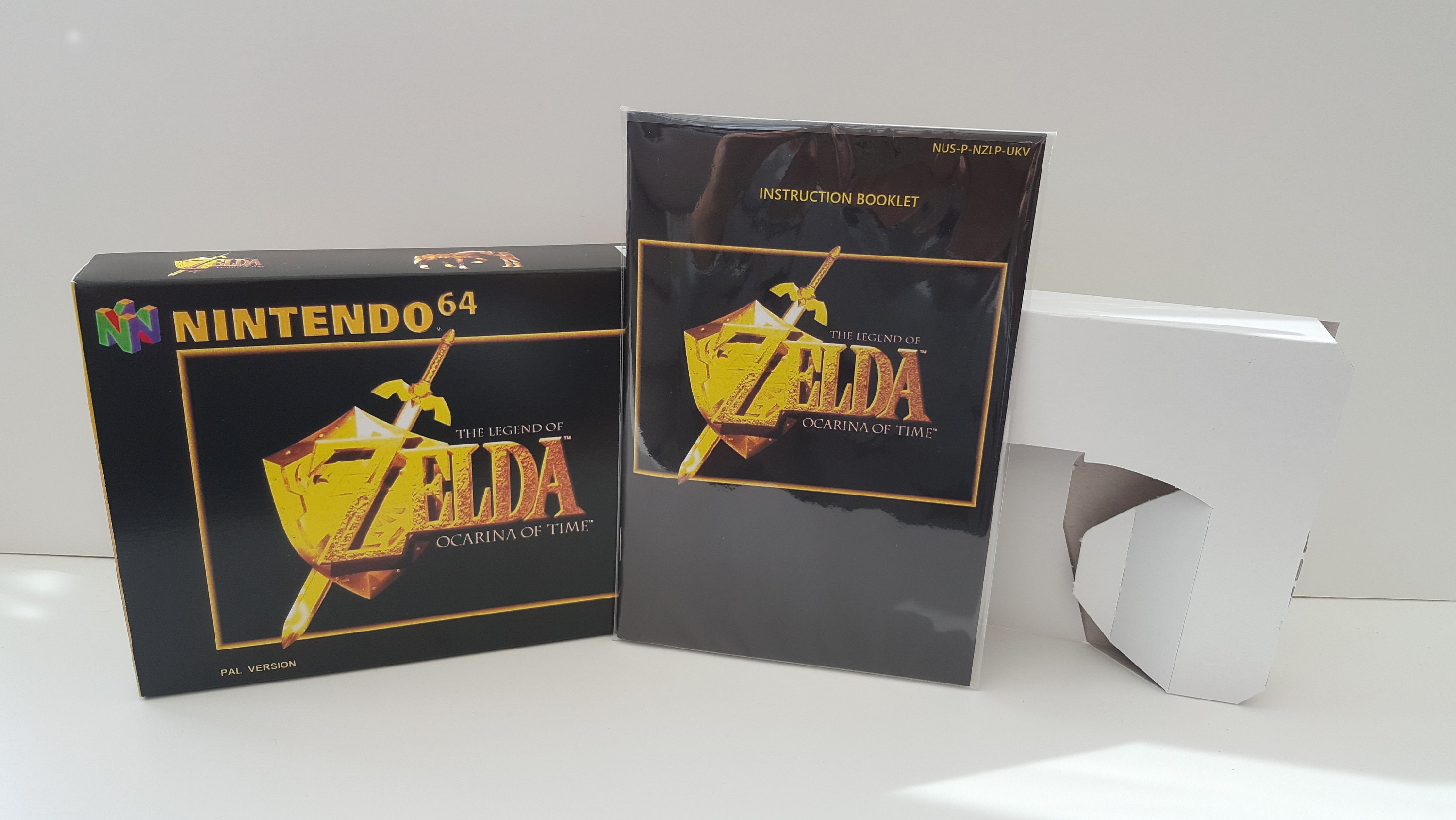 N64 The Legend of Zelda Ocarina of Time - Replacement Box and Insert NO  Game Included