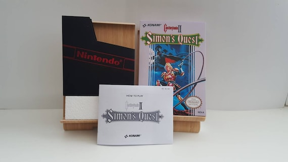 Quête de NES Castlevania 2 Simon - remplacement boîte aucun jeu n'inclus