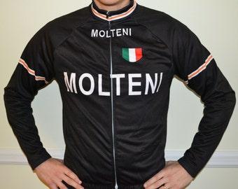 Vintage Molteni Winter Fleece Cycling Jersey 8c0abf418