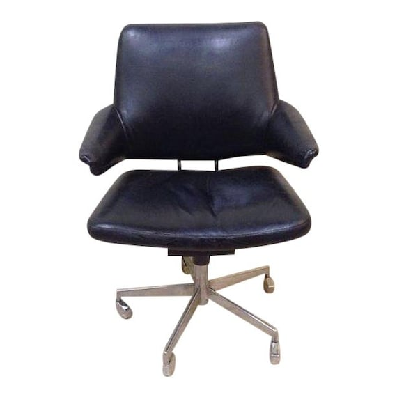 Super Rare Labofa 1960S Danish Modern Office Desk Chair Designed By Innovator Jacob Jensen Black Chrome Aluminum Original Condition Ocoug Best Dining Table And Chair Ideas Images Ocougorg