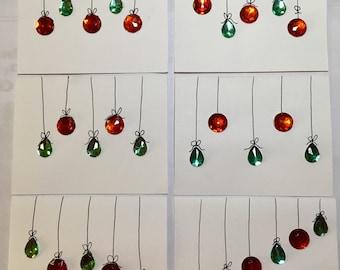 Christmas Ornament card set.
