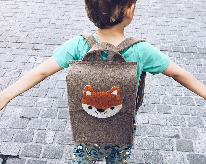 Tan Brown Kids' Backpack
