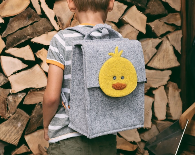 Light Gray Kids' Backpack