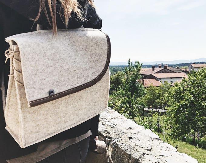 Cream White Backpack