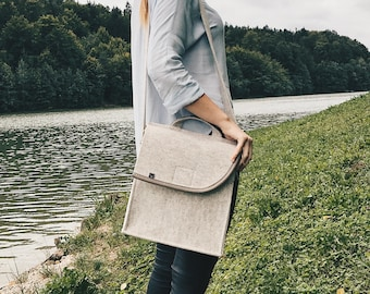 Unique Messenger Bag - with laces to adjust the size - Shoulder Bag - College School Bag, Crossbody Bag - Birthday gift