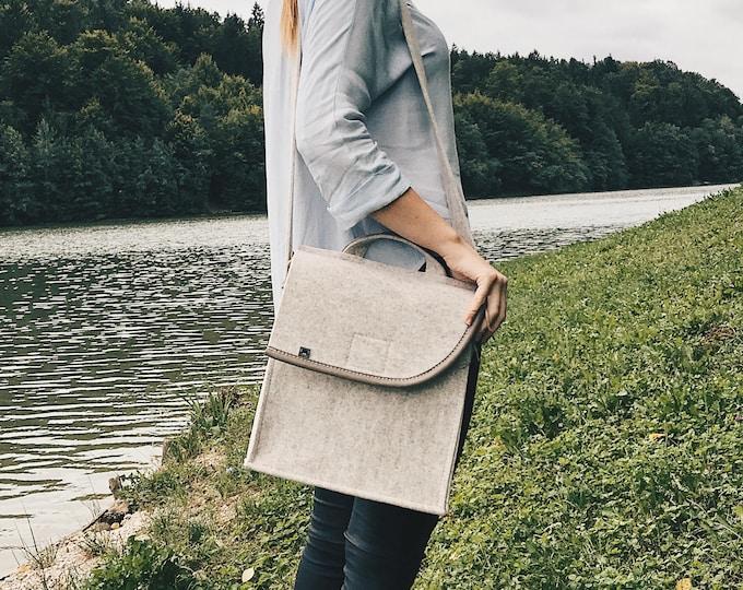 Cream White Messenger Bag