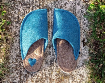 Azure Blue and Tan Brown (with Heart Patch)