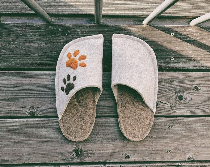 Cream White and Tan Brown Combination (Paw Patches)