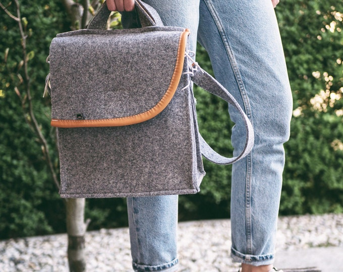 Light Gray Messenger Bag