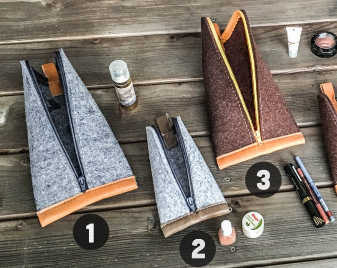 Different Color Combinations of Wool Felt and Leather