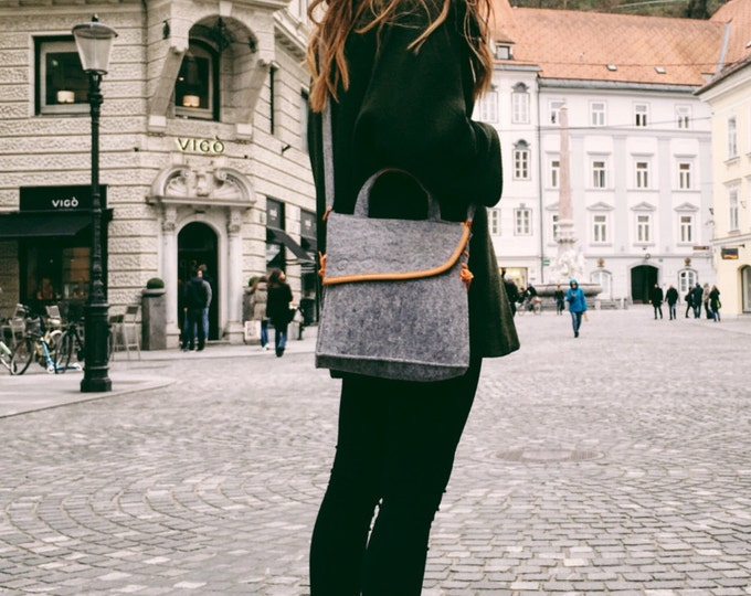Light Gray Messenger Bag
