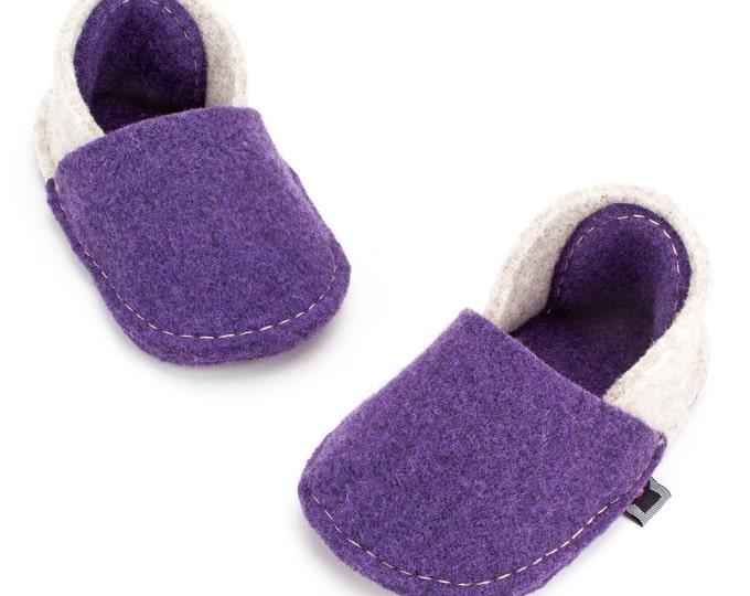 Purple and Cream White