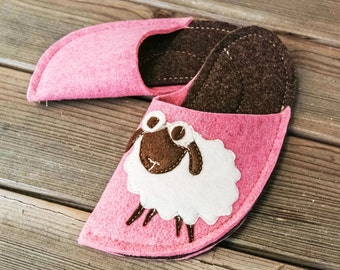 Pink and Dark Brown Combination (Sheep Patch)