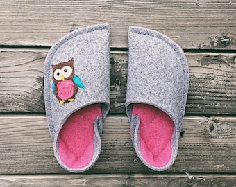 Dark Gray and Vivacious Pink Combination (Owl Patch)