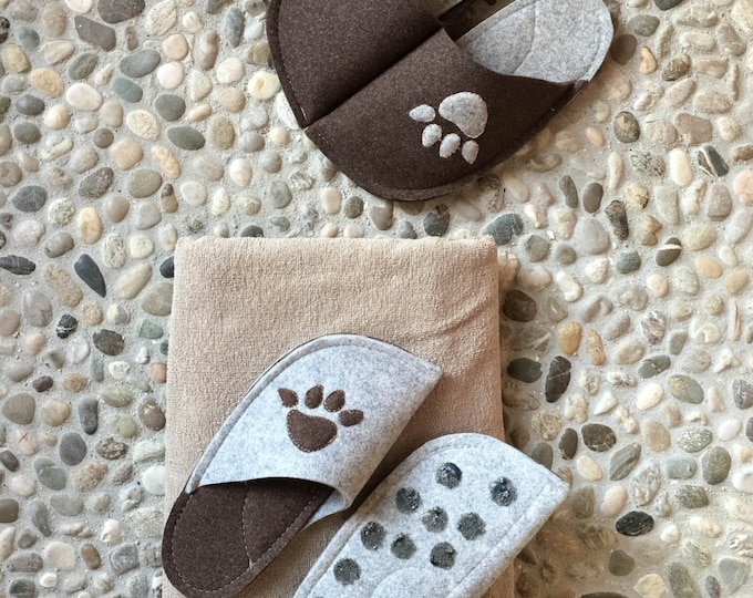Dark Brown and Light Gray Combination (Paw Patch)