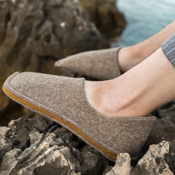a65b6c0efa Felt Slippers Wool Slippers Spa Slippers