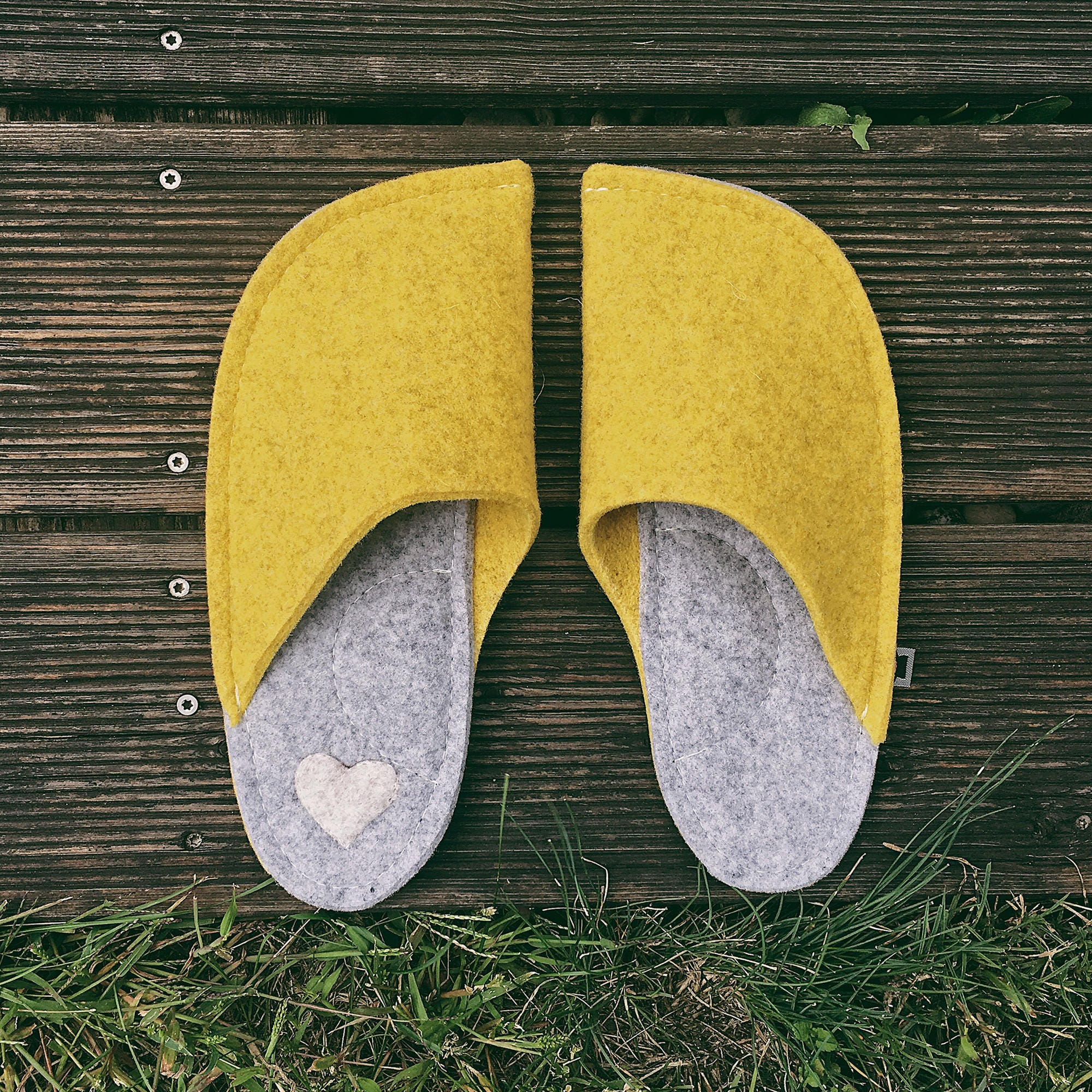 Yellow House Shoes - wool felt slippers - comfy handmade indoor shoes - comfy - and soft house shoes - colorful home decoration, love gifts d4d55b