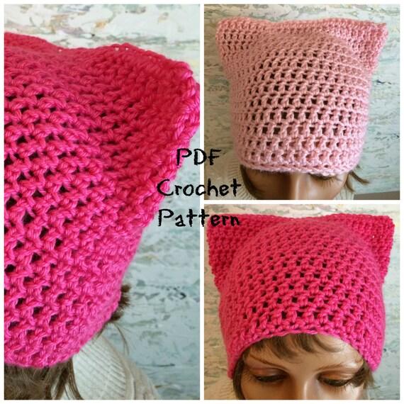 Pussy Cat Hat Crochet Pattern Pussy Hat Pattern PDF Download Etsy Classy Pussyhat Pattern
