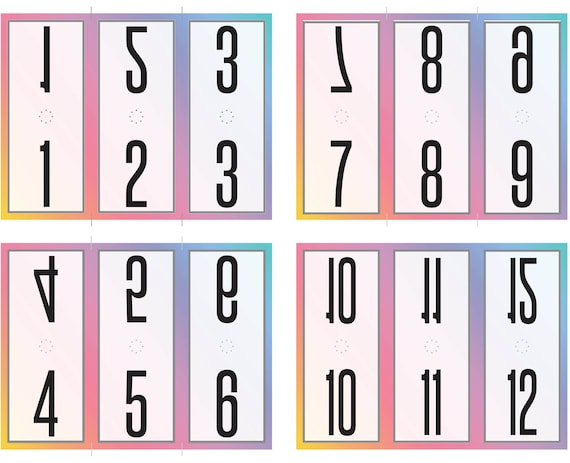 photo about Printable Number Tags identify PDF figures 1-99 On the web Sale Printable Garments Dwell Sale Opposite Selection Tags- Gradient Rainbow