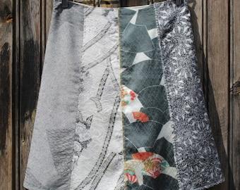 Kimono Silk Skirt Size 36/38