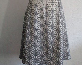 Silk skirt in kimonosilk A-line size 42/44 gr.L