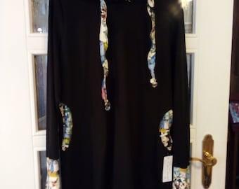 Hoody - Dress made of organic cotton jersey Gr.S-XL