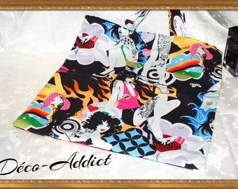 POP ART Tote multicolor 100% cotton designer fabric