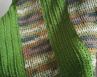Blanket/Throw/Chair Throw/Birthday/Christmas/Housewarming/Warm Afghan/Crocheted Throw/Green Throw/Mother's Day