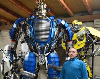 Dieselpunk  470 kg 10,5ft  / 315 cm- Giant Robot  Recycled Metal