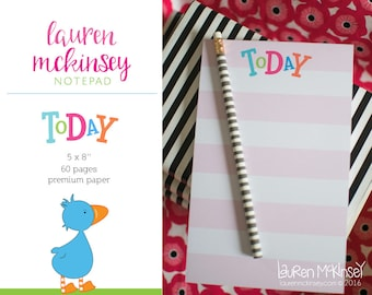 Cute To Do List & Notepad. TODAY is Full of Possible notepad.